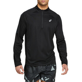 asics Icon Langarm 1/2 Zip Oberteil Herren performance black/carrier grey